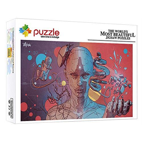 FFGHH Puzzle 1000 Piezas Infantil Puzzle Madera Puzzle Bebe Rompecabezas para Niños para Adultos Niños Amigo Robot 75Cm X 50Cm