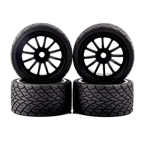 MENGzhuHSA Autoreifenmodell 1/8 On-Road-Räder Reifen Felgen 17mm 4pcs / Set for 1: 8 RC Modell On-Road Car 26412 für Kinder DIY Craft (Color : As Show)