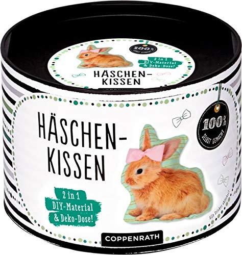 Häschen-Kissen: 2 in 1: DIY-Material & Deko-Dose! (100% selbst gemacht)