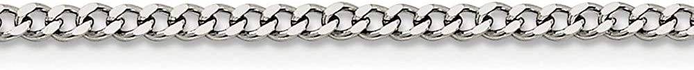 Chain Necklace White Stainless Steel Curb 3.0mm mm 18in in 3 18 2021 autumn Super intense SALE and winter new