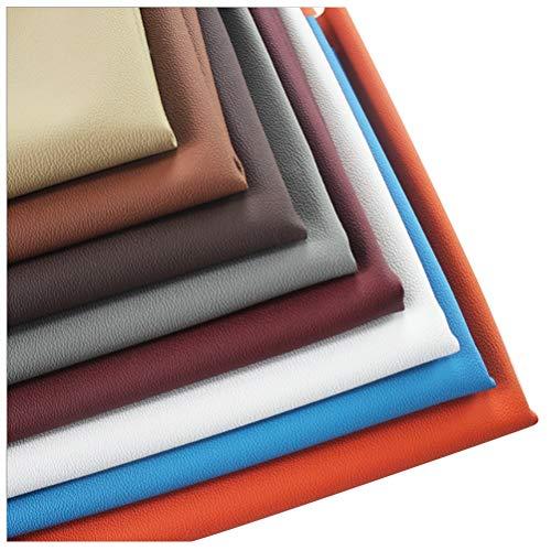 Polipiel Tela Cuero Artificial Tela de Piel Sintética de 1 Mm de Grosor Tela de Cuero de PU, Cuero de Sofá con Diseño de Micro-lichi, Asiento de Cuero para Automóvil, Cuero de Microfibra ( Color : A )