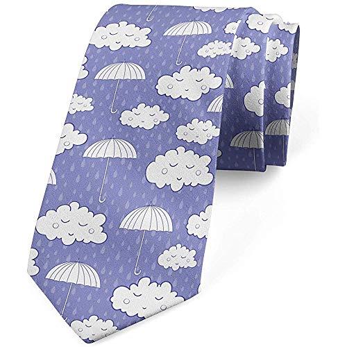 Mathillda De stropdas voor mannen, slaapende wolkenparaplu, blauw grijs-deken-blauw perfecte geschenken voor mode-stropdas