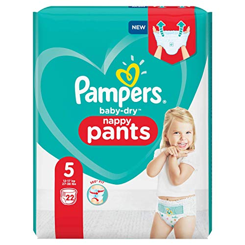 Pampers Baby-Dry Hosen Größe 5, 22 Windel, 12kg-17kg