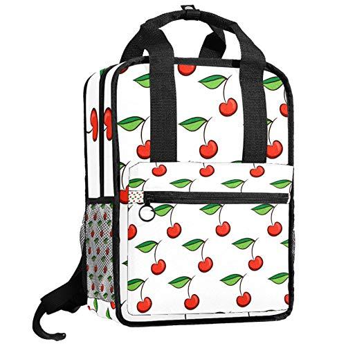 Mochila AITAI con patrón de cerezas, mochila para adolescentes y universidades, bolsa de viaje