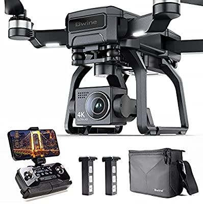 Bwine F7 Drone with Three-axis Gimbal for Adults, 4K Camera Large Aperture, 9842FT 5GHz FPV Transmission, 2 Batteries 50 Mins Flight Time, Brushless Motor, Aircraft with GPS Auto Return Home