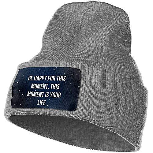 Dale Hill Be Happy for This Moment Winter Beanie Hat Gorro de Punto de Calavera para Hombres y Mujeres