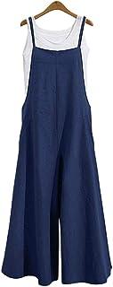 Petos de Pantalones Largo para Mujer, Morbuy Casual Verano Baggy Harem Mono Suelto Moda Bolsillos Overoles Jumpsuit Tirantes Playa Fiesta Noche Oficina Pantalones Embarazados