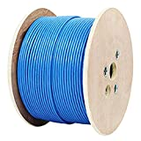 CAT8 Ethernet Cable 1000ft Shielded CMR Riser 2000MHz, S/FTP 22AWG, Solid, 100% Bare Copper, UL Certified, Bulk Cable Reel, Blue by Infinity Cable (Blue)