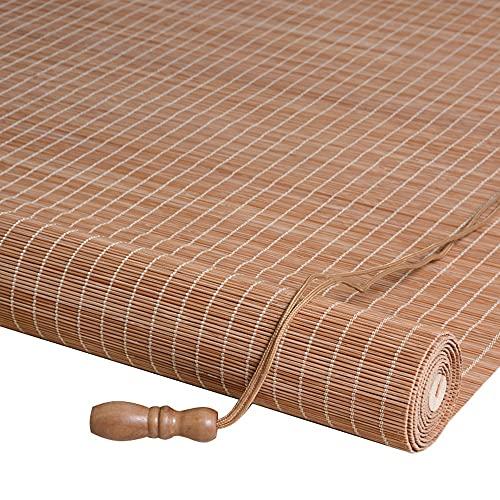 ASDFGHJ Estores de Bambú a Prueba de Sol, Persianas de Bambú con Filtro a Prueba de Polvo, Cortina de Bambú Decorativas para Puertas y Ventanas, Privacidad de Partición Personalizable