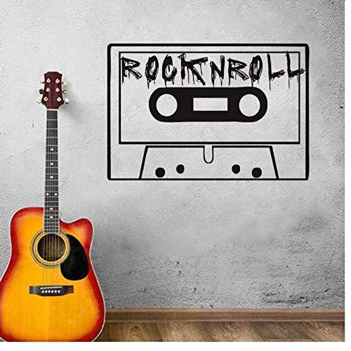 Wandaufkleber Rockmusik Spieluhr Vinyl Schlafzimmer Zuhause Wohnzimmer Dekoration Musik Abnehmbar 59Cm X 40Cm