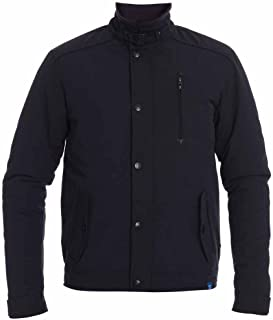 D555 by Duke Mens Smart Padded Jacket Coat, Multi Pocket with Elbow Patches, Navy (S-XXL)