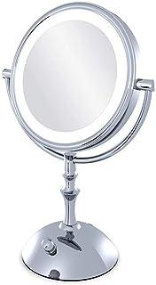 XZPENG Bathroom Vanity Mirrors Dressing Mirror,Magnifying Glass with Light, Illuminated Mirror 10 Times Magnifying Glass, Lighted Mirror, Double-Sided 360 Rotation,Makeup Mirror Lights