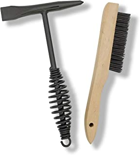 """VASTOOLS Welding Chipping Hammer with Coil Spring Handle,10.5"""",Cone and Vertical Chisel/ 10"""" Wire Brush(Free)"""