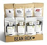Bean Box - Coffee and Tea Gift Box (Whole Bean, 4 Coffees + 4 Teas)