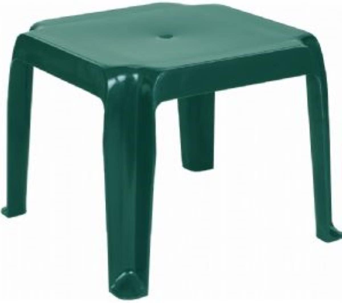 Compamia Sunray Square Resin Patio Quantity limited in Green Side Max 53% OFF Table Commerci