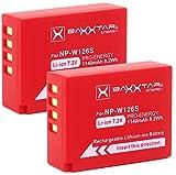 Baxxtar Pro (2X) Batería Compatible con Fujifilm NP-W126s NP-W126 (1140mAh) FinePix X100F X-A5 X-A7 X-A10 X-E3 X-H1 X-Pro1 X-Pro2 X-Pro3 X-S10 X-T3 X-T10 X-T20 X-T30 X-T100 X-T200 y demás