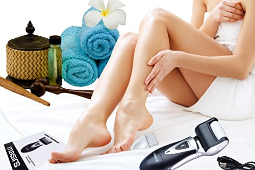 Electric Callus Remover - Easily Remove Callused Skin from Feet and Reveal Beautiful Smooth Soft Skin. Achieve Professional Spa Quality Pedicure Results. Rechargeable, Charge from USB or Wall Outlet.
