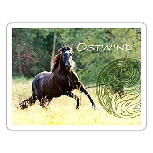 Spreadshirt Ostwind Der Große Orkan Ostwind Reitet Sticker, One Size, Mattweiß