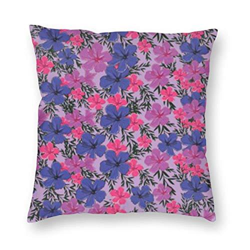 BONRI Almohada cuadrada de flores coloridas de 45,7 x 45,7 cm, decoración cuadrada, descanso cómodo y relajante, compañerismo cálido