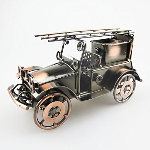 Decoración Hogareña Modelo De Camión De Bomberos Gewelry Casquillo De Bala Tecnología Cuatro Rondas Area Escenica Turismo Recuerdo Tamaño (Largo 17Cm * Ancho 10Cm * Alto 10Cm)