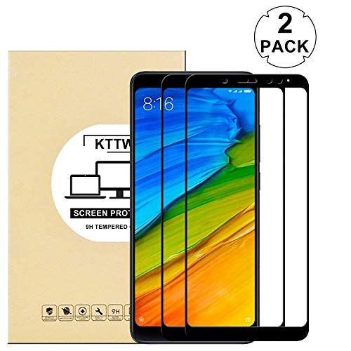 (2PACK) Redmi Note 5 Pro (11D) Screen Protector, KTTWO 11D Full Cover Anti-Scratch Bubble-Free Tempered Glass Screen Protector with Full Glue for Redmi Note 5 Pro(Black)