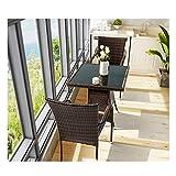 HLZY Muebles de Vida al Aire Libre Muebles de terraza Muebles de jardín Liquidación de Cristal Mesa de café Mesa de Conversación Conversación Patio al Aire Libre