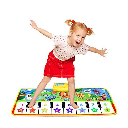Piano Musical Mat,Educational Pre-Kindergarten Toys,15 Keys Floor Mat 28inch x 11.5inch--No Volume Control