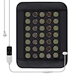 """Far Infrared Heating Pad Mat for Back, Neck, Shoulders, Cramps, Pain Relief with Natural Jade and Tourmaline, Auto Shut Off, Smart Timer and Heat Settings, 15.7"""" x 20.5"""" (AC)"""