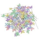 100 Piezas Alfileres Costura de Cabeza de Mariposa, Para Manualidades y Costura de Bricolaje
