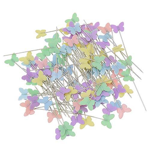 MoPei 100 Stück Mehrfarbige Stecknadeln, Schmetterlingsformen Bild