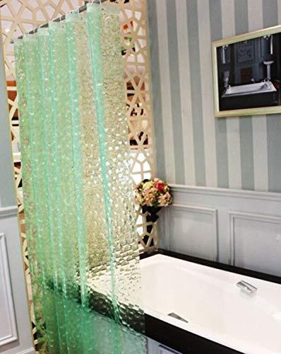 BSTT Cortinas de Ducha antimoho y Lavables PEVA Cubo 3D Cortina de baño Decorativa para el hogar y el Hotel Verde 180 x 200 cm