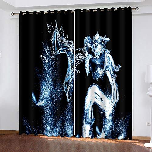 3D European-Style Animal Printing Simulation Curtain Suitable For Decorative Curtains Of Villas, Shopping Malls And Hotels Effective Protection Of Personal Privacy 2 Pieces