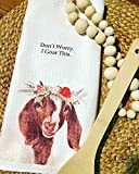 Goat Kitchen Towel - Don't Worry, I Goat This