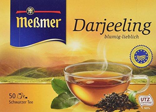 Meßmer Darjeeling   50 Teebeutel   Vegan   Glutenfrei   Laktosefrei