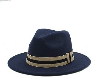 2019 Good Hat For Men Women Winter Fedora Hat With Cloth Belt Panama Hat Wide Brim Church Fascinator Hat Casual Hat, Size 56-58CM