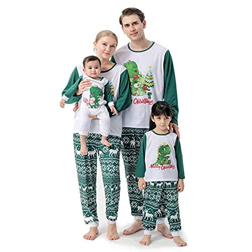 YQSR - Pijama de Navidad con diseño de dinosaurio
