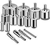 Glass Drill Bits - 15pcs Diamond Hole Saw Drill Bit for Glass, Ceramics