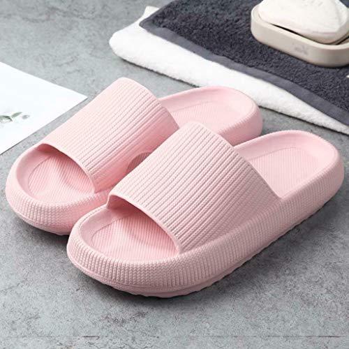 Massage Slippers Slides Pillow Slides for Women - Massage Foam Bathroom Slippers, Non-Slip Thick Sole Slippers, Latest Technology-Super Soft Home Slippers (pink, 9)