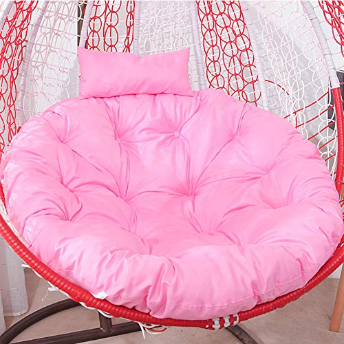 Waterproof Thicken Hanging Egg Chair Cushion,Chair Seat Cushion for Patio Deck Yard Garden Hammock,Round Non Slip Swing Chair Cushion with Pillow