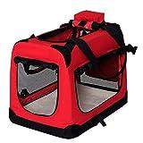 dibea Bolsa de Transporte para perros gatos box caja plegable (M)...