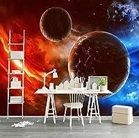 カスタマイズされた3D壁画現代の宇宙星空の惑星写真の壁紙リビングルームテレビ寝室の背景壁の装飾3D壁画-400Cm×280Cm