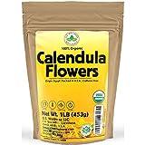 Calendula Tea 1LB (16Oz) 100% CERTIFIED Organic Whole Flower Calendula...
