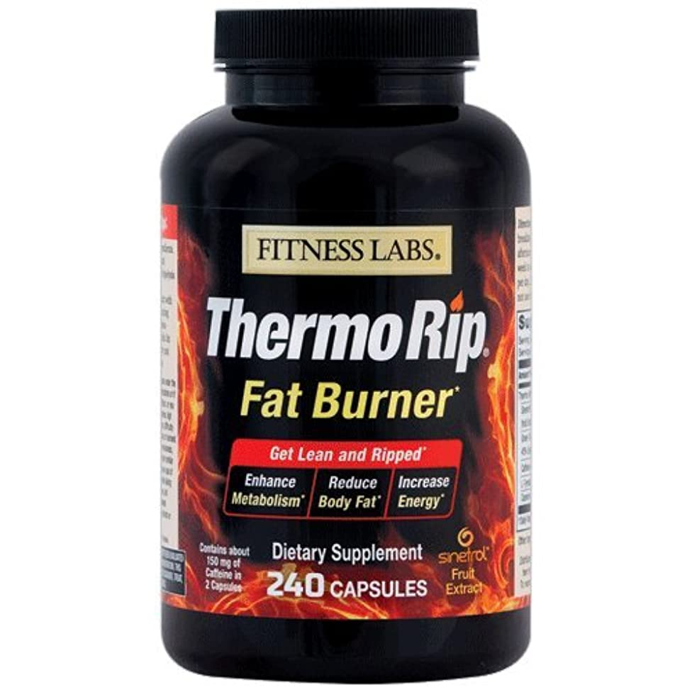 Fitness Labs Thermo Rip Fat Burner with Sinetrol? Xpur, Green Tea, Caffeine, L-Tyrosine and Cayenne, 120 Servings