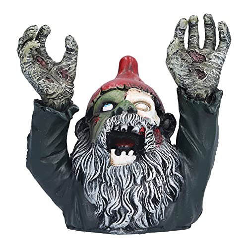 ROMACK Zombie-Zwerg, Hochsimulierte Zombie-Zwerg-Garten-Familien-Statue-Skulptur, Halloween-Außendekoration Ornamente Böser Horror Kunstharz-Material