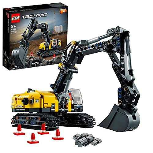 LEGO42121TechnicHydraulikbaggerBauset,2-in-1Modell,Baufahrzeug,BaggerSpielzeugab8Jahren,Konstruktionsspielzeug