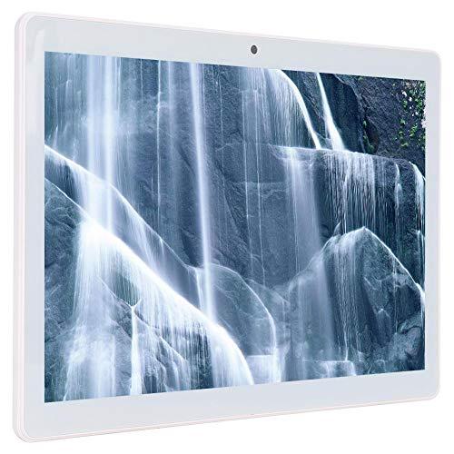 Tableta de 1280 X 800, Resolución de 10.11 '' Tableta con Pantalla de Vista Completa MT6580 Tableta con Sistema Operativo Android 8.1 de Cuatro Núcleos Compatible con Llamada 3G con Tarjeta Doble(EU)
