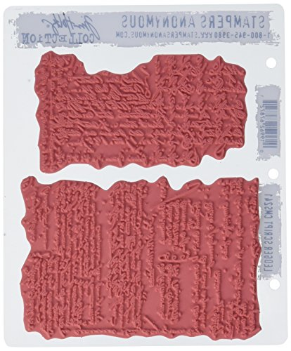 """Stampers Anonymous Tim Holtz Cling Rubber Stamp Set, 7"""" by 8.5"""", Ledger Script  """