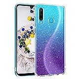 DOMAVER Huawei P30 Lite Case, Sparkle Glitter Bling Slim