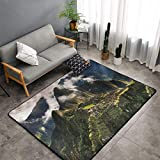 Machu Picchu Perú Perú - Alfombra de área grande para comedor, sala de estar, dormitorio, antideslizante, suave, lavable a máquina, 5 pies x 3 pies
