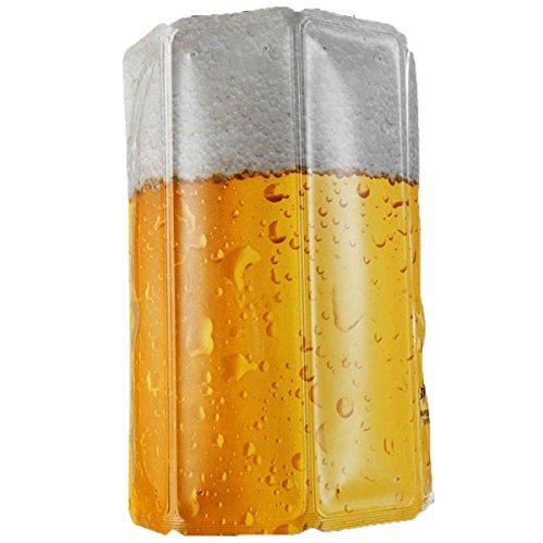 Vacu Vin Active Beer Cooler Enfriador para latas o botellín, Blanco/Amarillo, Centimeters